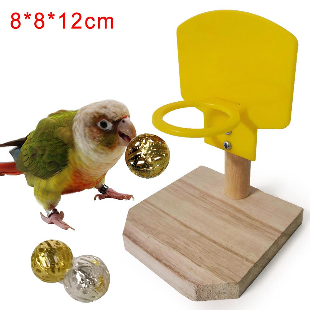 font b Pet b font Bird Parrot Funny Basketball Shooteed Hoop Balls Puzzle Game Chew