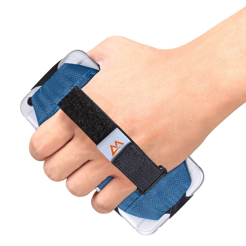 3.5-6 Inch Adjustable Palm With Sports Running Accessories Mobile Phone Holder Hand Grip Light Slip