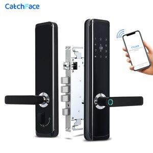 Image 1 - TTlock APP Biometric Fingerprint Door Lock Keyless Smart Lock WiFi Bluetooth Fingerprint Lock Electronic Home Lock Dual Battery