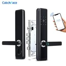 TTlock APP טביעות אצבע ביומטרי מנעול דלת Keyless חכם מנעול WiFi Bluetooth טביעת אצבע מנעול אלקטרוני בית מנעול כפול סוללה