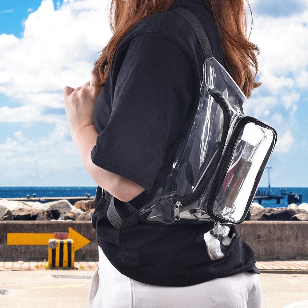 Transparent Pockets PVC Waterproof Sports Bag With Adjustable Strap For NFL NCAA MLB PGA