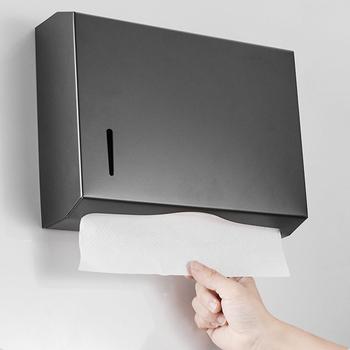 Papier do łazienki dozownik ręczników naścienny uchwyt na papier toaletowy dozownik papier toaletowy ze stali nierdzewnej podajnik ręczników papierowych tanie i dobre opinie STAINLESS STEEL NONE CN (pochodzenie) Paper Towel Dispenser Uchwyty na papier