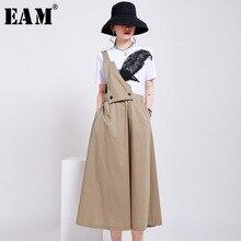Temperament-Strap Skirt Women Black EAM Autumn High-Waist Fashion Tide Khaki Spring Two-Ways-Wear