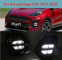 2PCS Car Fog Light DRL Assembly For KIA Sportage/KX5 2019 2020 Car Daytime Running Light Accessories Auto Light Parts
