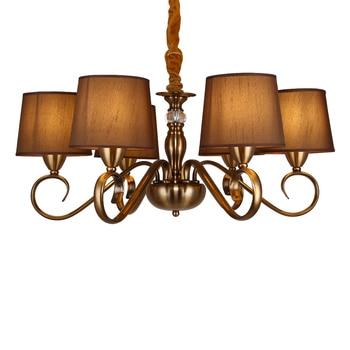цена America Imitation Bronze Chandelier Home Decor Dinning Room Hanging Lamps,Restaurant Lighting Living Room Chandeliers Hotel онлайн в 2017 году