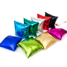 Special reflective living room sofa cushion covers 45*45cm without inner square polyester green red cushion pillow cases X121