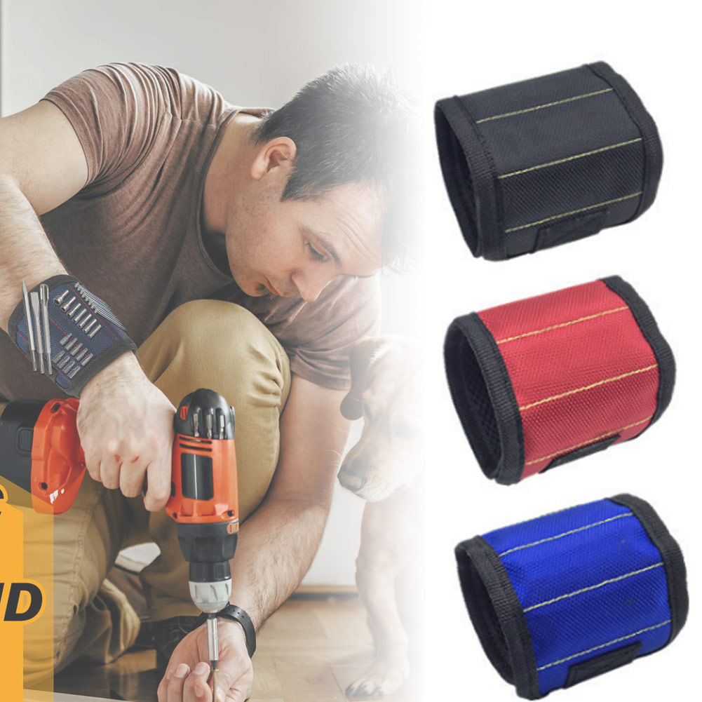 Strong Magnets Wristband Holding Tools Nails Screws Drill Bits For Men Father Handyman CLH@8