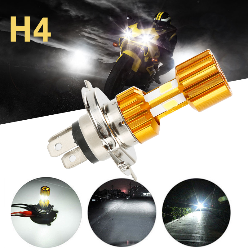 H4 LED Headlight Bulbs Universal DC 12V 18W 1500LM 6500K Hi/Lo Beam Light White LED COB Motorcycle Headlight Lamp