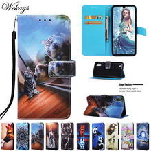 цена на Wekays For Samsung M10 M20 M30 Cartoon Leather Flip Fundas Case For Coque Samsung Galaxy M10 M20 M30 Cover Case Capa M10 M20 M30