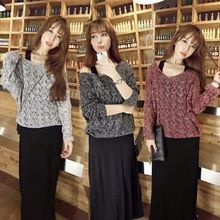 Maternity Set Autumn And Winter Pregnant Women Fashion Dresses Long Vest Dress + Bottoming Knit Sweater Two-piece Suit