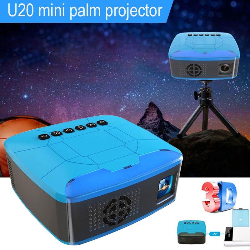 Nouveau Design U20 MINI projecteur HD et projecteur LED multimédia Home cinéma cinéma Portable cinéma numérique 3D projecteur Full HD