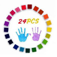 Children Finger Painting Color Ink Pad Set 24 Colors Multi-color Color Ink Pad For Children Fun Games(China)