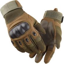 Тактические перчатки для сенсорного экрана, для улицы, для мужчин, армейские, военные, для пейнтбола, походов, стрельбы, альпинизма, страйкбола, жесткие, полный палец, перчатки, спортивные