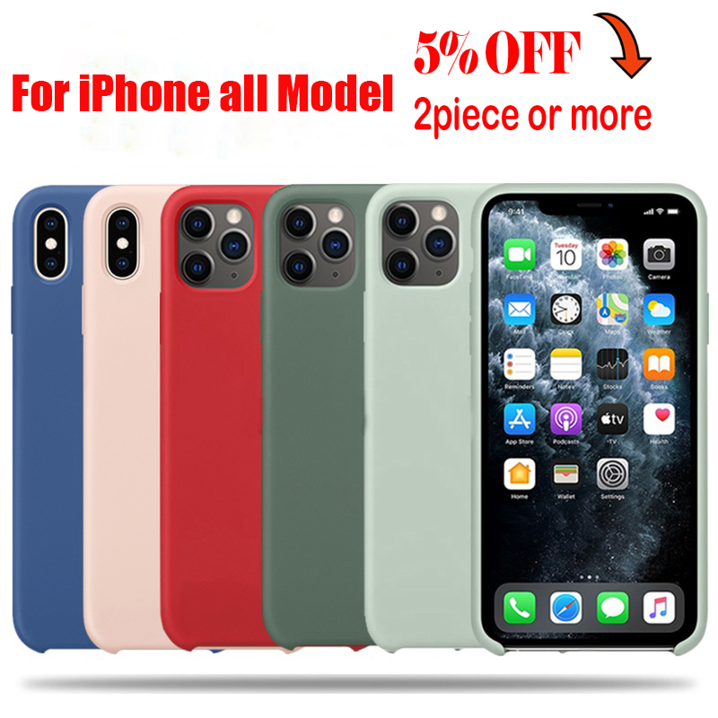 Original Official Silicone Case For iPhone 12 Mini XR XS X SE 2020 6 6S Plus Case for iPhone 11 12 Pro Max 7 8 XS XR Case