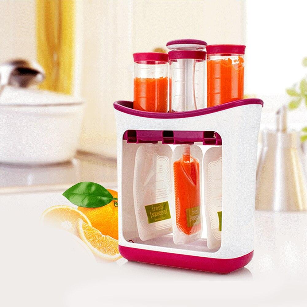 Baby Food Storage Baby Milk Powder Container Children Fruit Mashing Squeezing Household Kitchen Packing Machine Food Supplement