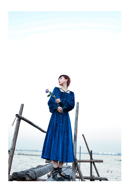 Vestido de princesa feminino vestido de veludo