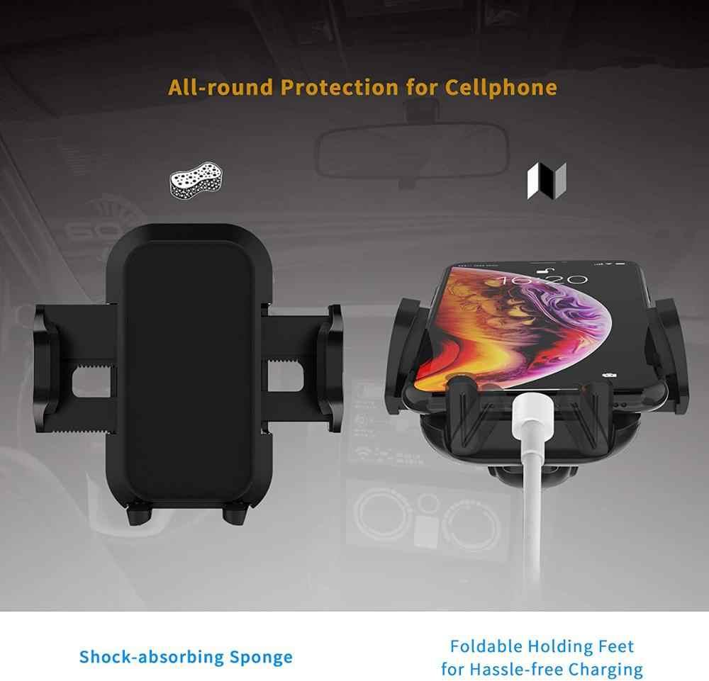 自動車電話マウントホルダー cd 電話マウント車の自動車リリースフィットさまざまなスロット 6 ゴムパッドハンドフリー電話ホルダー