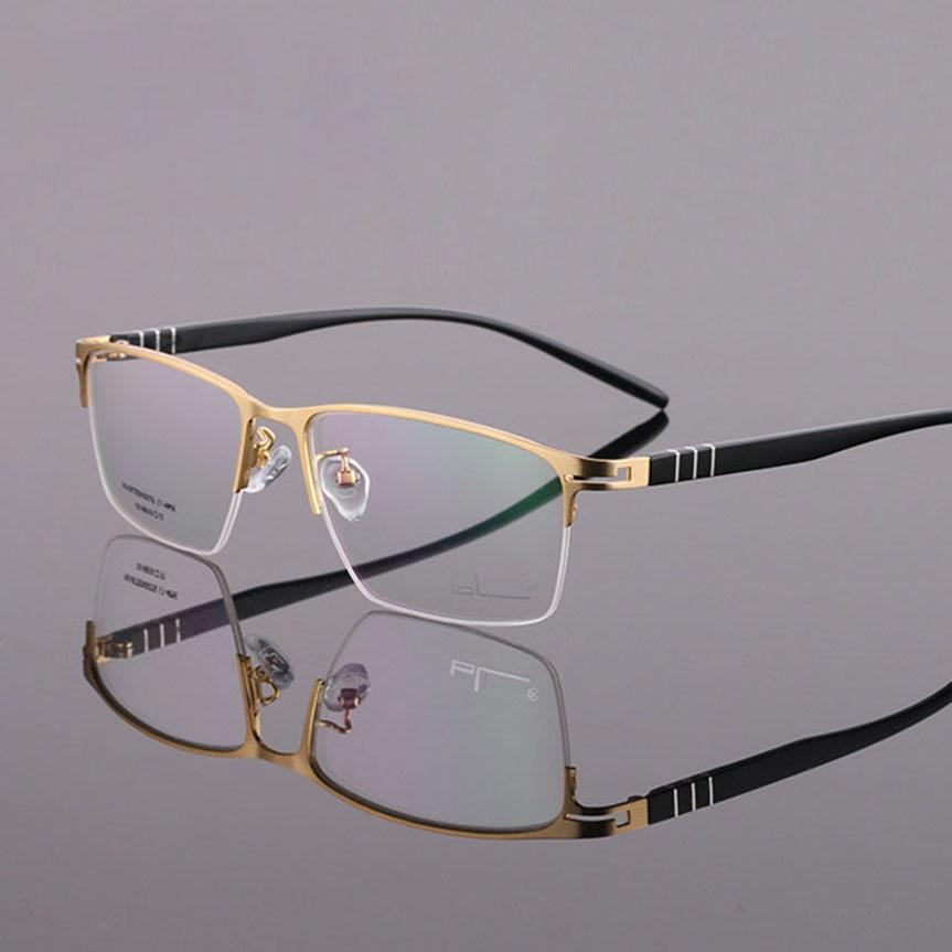 Zerosun, оправа для очков, мужские полуоправы, очки для мужчин, бизнес очки, мужские очки, прозрачные линзы для выпускника, чехол, Бесплатная