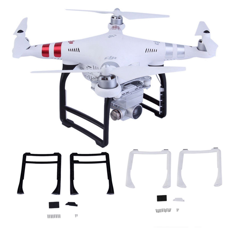 2PCS Tall Landing Gear Kits For DJI Phantom 3 Professional Advanced 3 SE Drone Spare Parts Height Extender Leg Feet 3A 3P SE Kit
