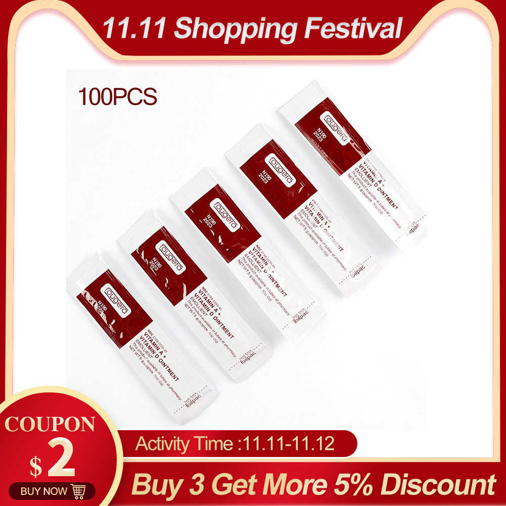 100Pcs/lot Tattoo Aftercare Cream Care Lotion Anti Scar Vitamin Ointment For Tattoo Body Art Permanent Makeup Tattoo Supplies