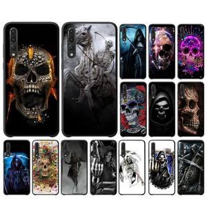 Чехол для телефона Bloody skull reaper для Huawei P10/20/30/40/20Pro/30Pro/30Lite/40Pro NOVA3/3E/3i/7SE