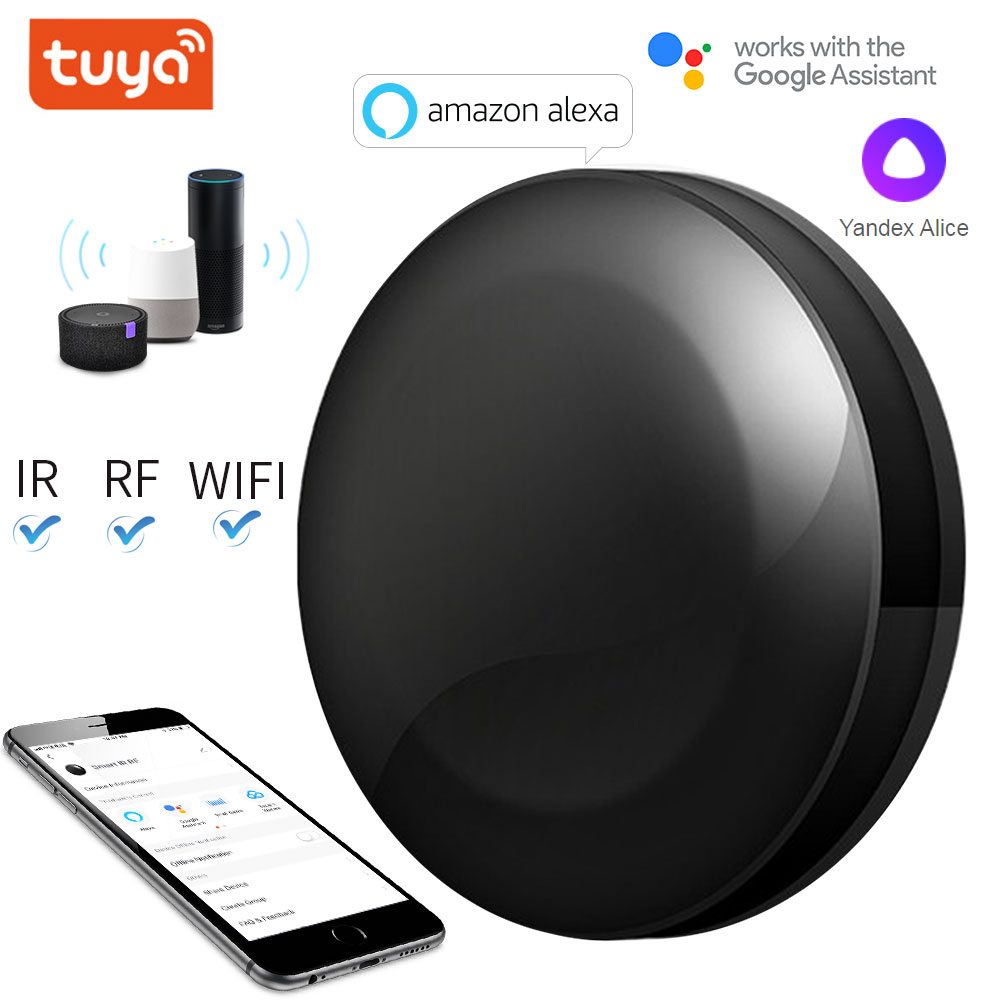 TUYA WIFI IR RF Universal Smart Remote Voice Control Alexa Google HOME Smart Home Smart Home Automation Support DOOYA