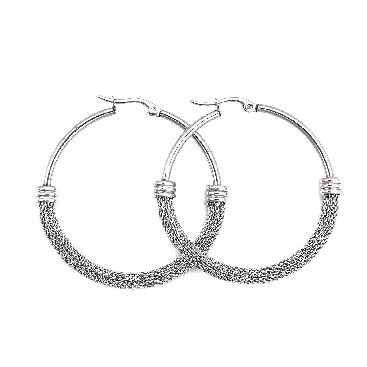 Doreen Box 304 серьги-кольца из нержавеющей стали серебряные круглые серьги ювелирные изделия Размер: (18 калибр), 1 пара