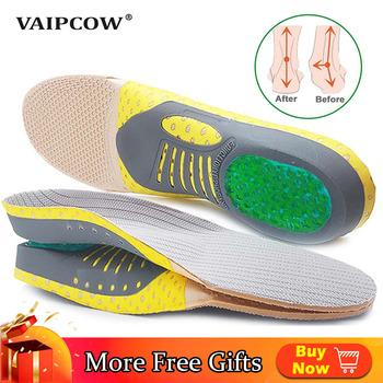 Wkładki ortopedyczne Orthotics płaskostopie zdrowie podeszwa Pad dla wkładka do butów sklepienie łukowe Pad dla podeszwy fasciitis pielęgnacja stóp wkładki tanie i dobre opinie VAIPCOW 1 cm-3 cm CN (pochodzenie) Średnia (B M) Wkładki do butów Multifunction orthotic sports insole Stałe Szybkie suszenie