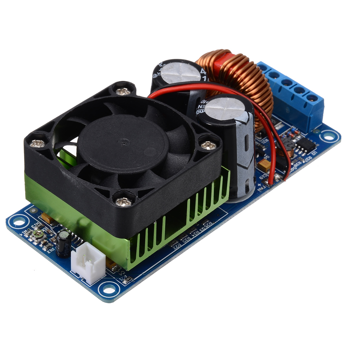 New IRS2092S Mono Channel Digital Amplifier Module 20Hz 20KHz Class D HIFI Power Amp Board With Fan 500W-in Amplifier from Consumer Electronics