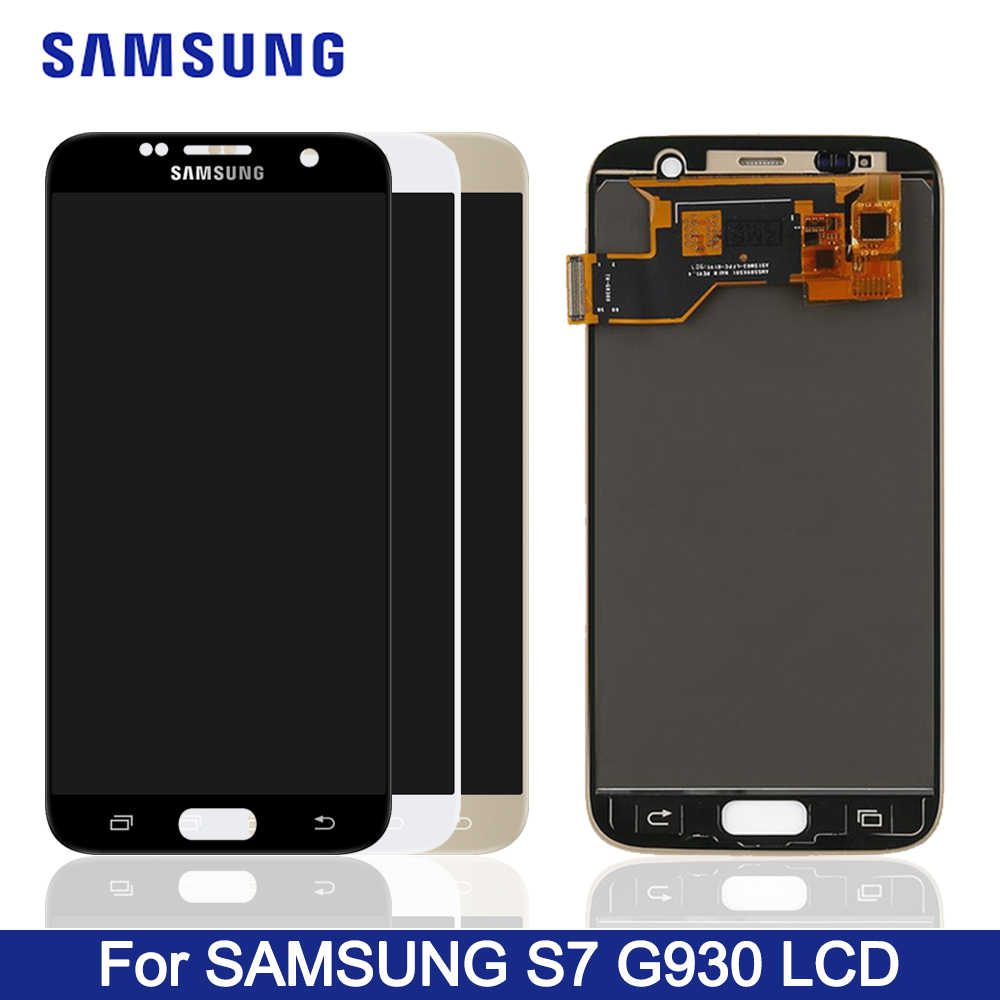 TFT Display For SAMSUNG GALAXY S7 G930A G930F SM-G930F LCD Display Touch Screen Digitizer Assembly For SAMSUNG S7 LCD