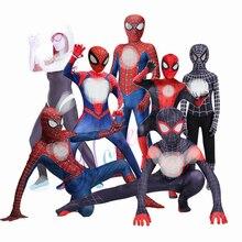 Kids Adult Costume Cosplay Suit Verse Miles Morales Peter Parker Gwen Stacy Fancy Halloween Cosplay Costumes Kids Women Men