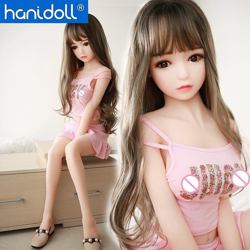 Hanidoll 115cm Mini Silicone Sex Dolls Japanese Love Doll Metal Skeleton Realistic Vagina Anal Breast Masturbator TPE doll