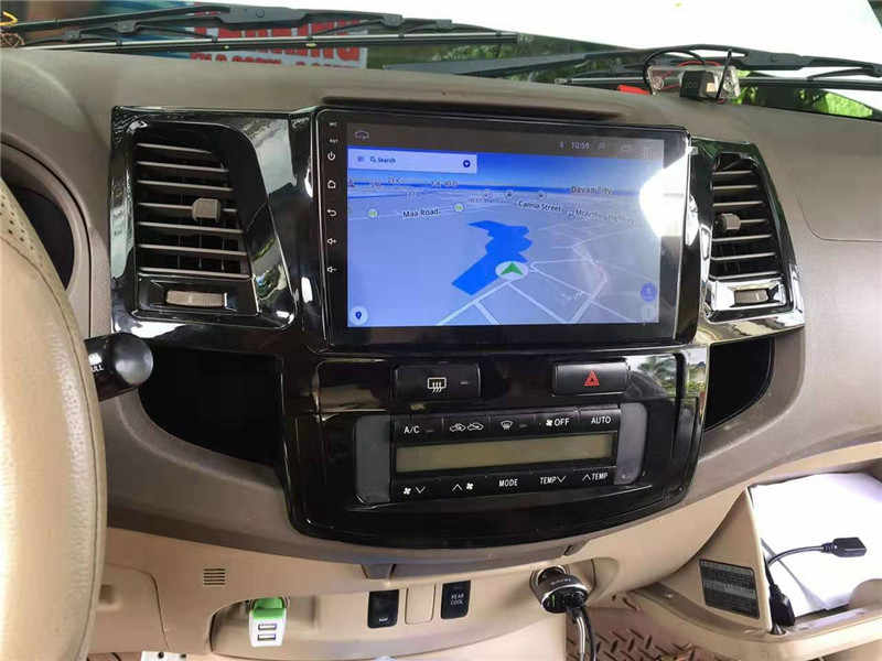 Yulbro quad core android auto dvd-speler voor Toyota Fortuner 2008-2014 car multimedia radio bluetooth gps navigatie video IPS