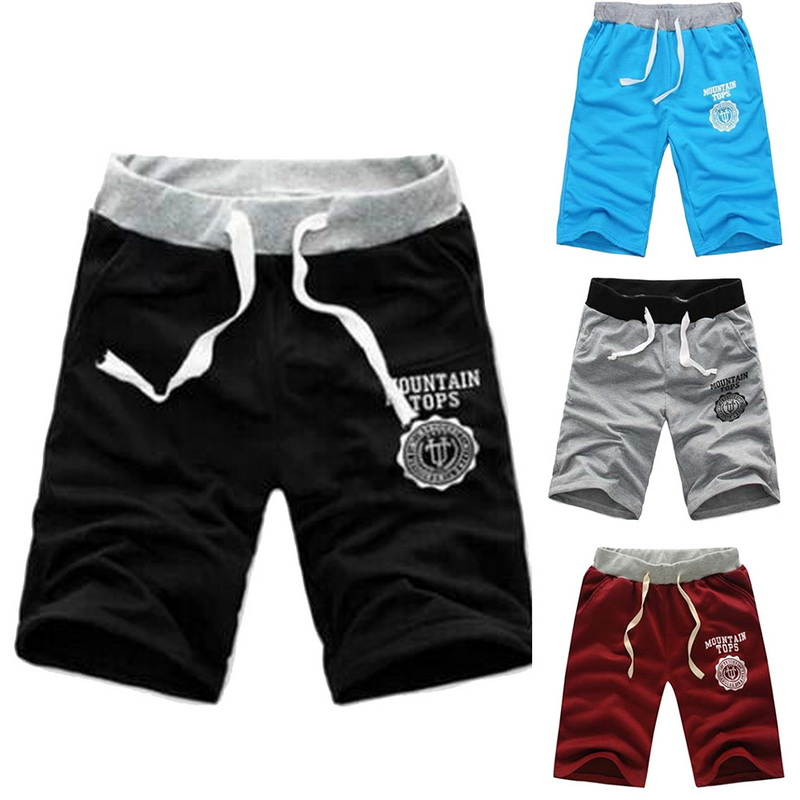 Elastic Waist Fit Shorts 2019 Mens Summer Workout Shorts Solid Loose Casual Shorts Masculina Plus Size 3XL High Quality