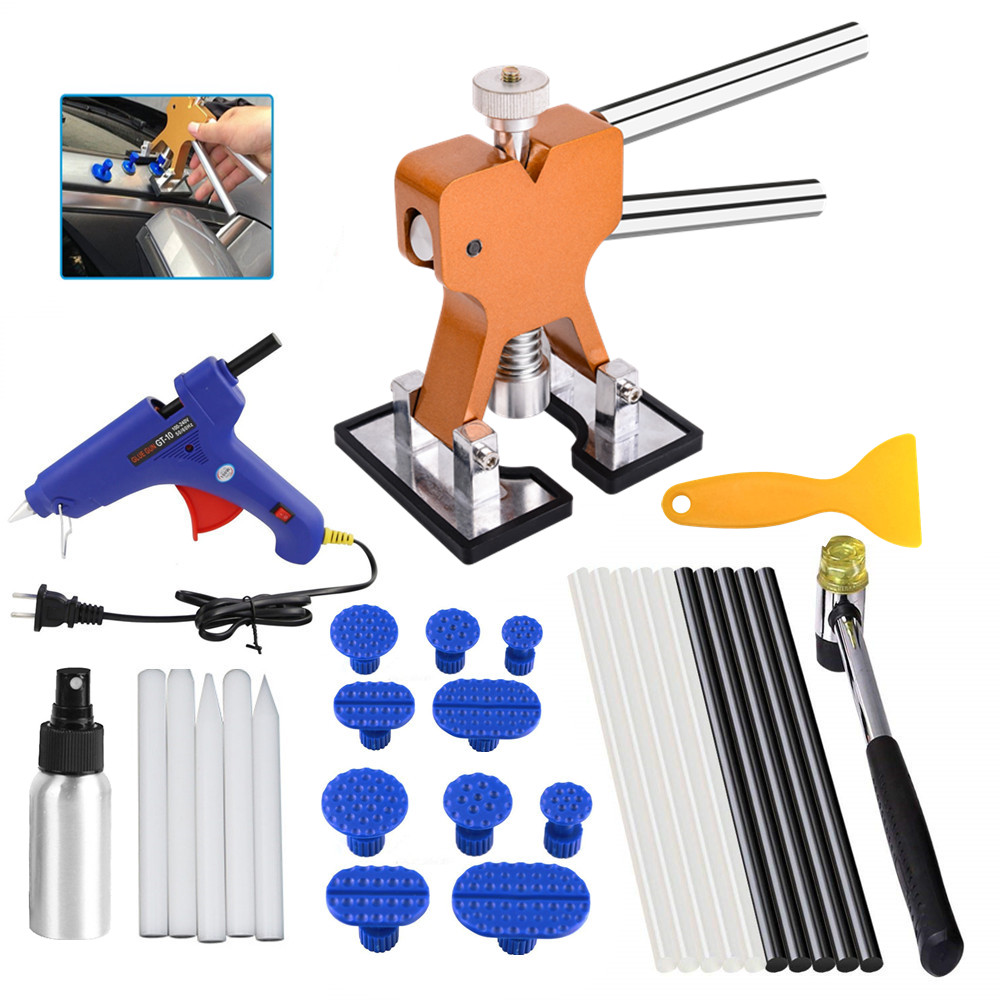 DIY PDR Car Body Paintless Dent Repair Remover Tools Paintless Dent Removal Puller Dent Lifter Kits Puller Lifter