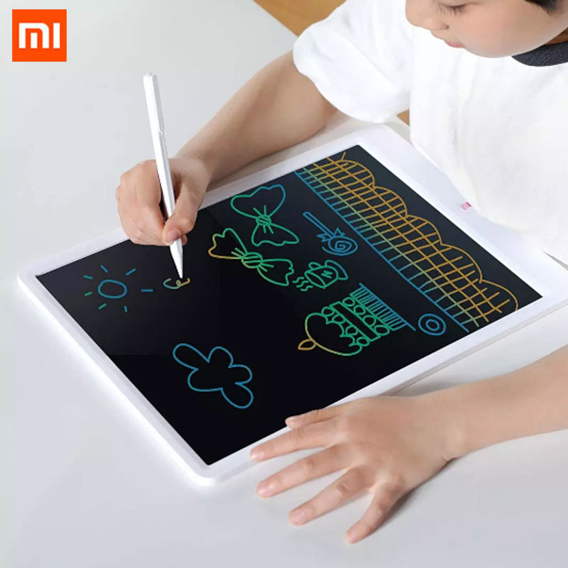 New Xiaomi 13.5inch Children's Electronics LCD Tablet Computer Color Drawing Graphics Writing Board With Pen Graffiti Sketch Pad Smart Remote Control  - AliExpress