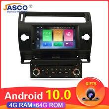 Android 10.0 samochodowy odtwarzacz DVD odtwarzacz GPS Glonass Navi dla Citroen C4 c triomphe c quatre 2005 2006 2007 2008 2009 Radio samochodowe Stereo