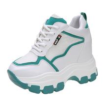 The New Shoes Summer Sneakers Women Thick Thin Wild Breathable Mesh Dad Shoes ne