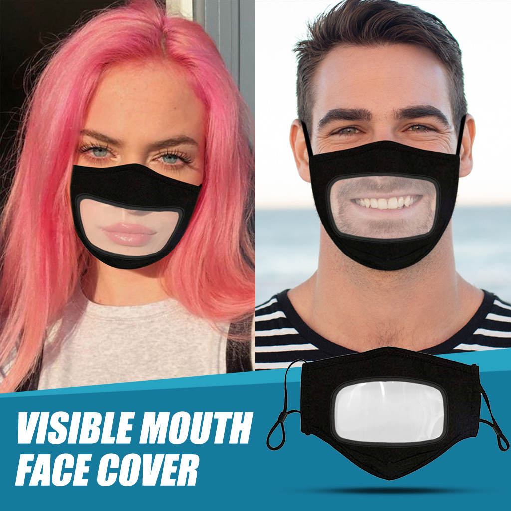 Mask Adult Reusable Washable Dustproof Breathable Earhook Visual Face Mask For Nose And Mouth Proteccion Mouth Shield Outdoor