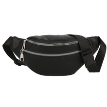 Women Waist Packs Fashion Leather Zipper Fanny Belt Bag Travel Hip Bum Bag Small Purse Chest Pouch(China)