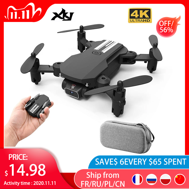 XKJ 2020 New Mini Drone 4K 1080P HD Camera WiFi Fpv Air Pressure Altitude Hold Black And Gray Foldable Quadcopter RC Dron Toy|RC Helicopters| - AliExpress
