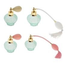 100ml estilo de cristal Vintage atomizador de Perfume recargable botella de vidrio vacío Perfume botella para el hogar \ viaje de decoración