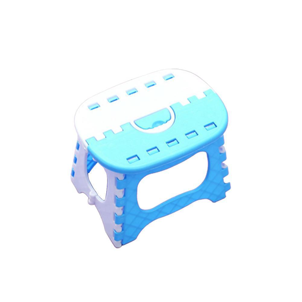 Folding Step Stool Foldable Plastic Portable Small Handle Camping Kids Bathroom Travel Chair Bench Outdoor For Children Wit E8F1