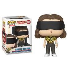 Funko Pop-figura de Stranger Things Battle Eleven #826, modelo de colección de 10cm, figura de acción de vinilo, edición limitada, juguetes para niños, regalos