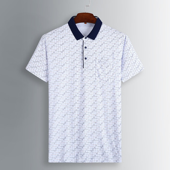 2020 Plus Fat plus Size Male Short Sleeve T Shirt Fat Man Loose Lapel T-shirt Shirt Extra Large Half Sleeve Shirt фото