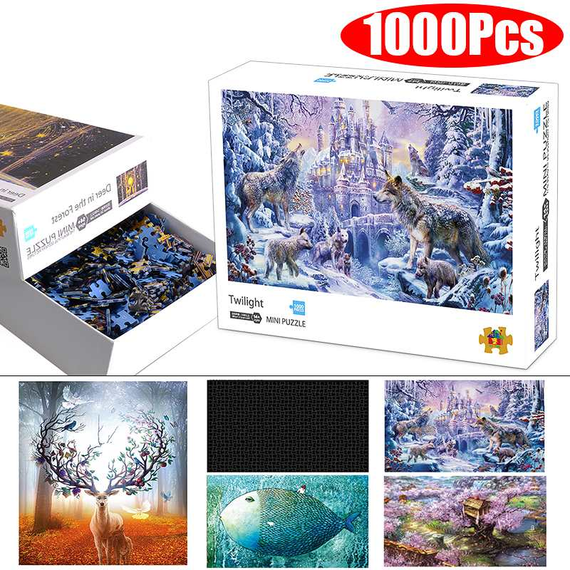 1000 Pieces Jigsaw Picture Puzzles Wooden Assembling Puzzles Toys For Adults Children Kids Games Educational Toys