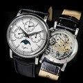 2019 новые модные часы с хронографом из нержавеющей стали SEAGULLST1908 с механизмом сапфировое стекло 5ATM Мужские механические часы с фазой Луны