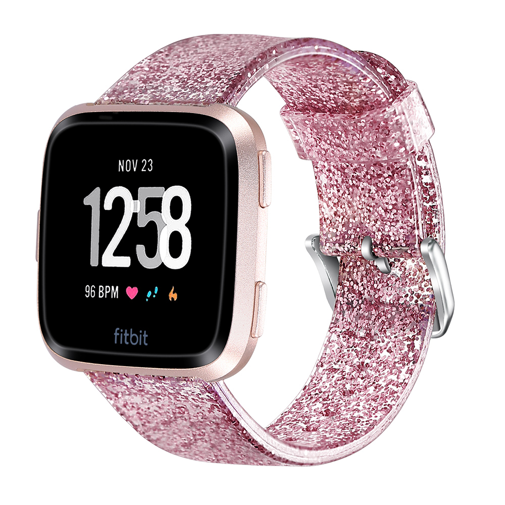 Soft Replacement Wrist Strap Glitter For Fitbit Versa Lite/Versa Smart Watch Band Watchband Sport Band Bracelet Belt