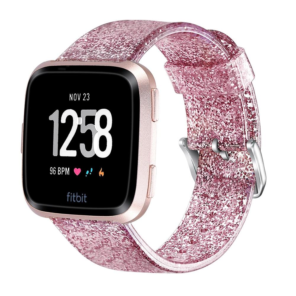 Tonbux Soft Replacement Wrist Strap Glitter For Fitbit Versa Lite/Versa Smart Watch Watchband Sport Band Bracelet Belt