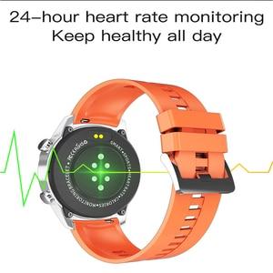 Image 3 - Montre connectée de sport pour hommes, étanche IP67, avec appels vocaux, fréquence cardiaque, pression artérielle, oxygène, lampe de poche, pour téléphone, MV55